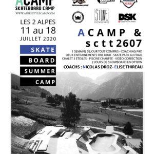 ACAMP Skateboard du 11 au 18 Juillet 2020